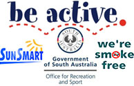 Proudly sponsored by the Office of Sport and Rec SA - Be Active